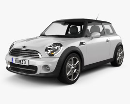 3D model of Mini One Hardtop 2011