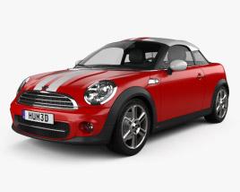 3D model of Mini Cooper coupe 2013