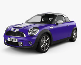 3D model of Mini Cooper S coupe 2013