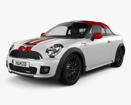 3D model of Mini John Cooper Works coupe 2013