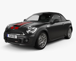 3D model of Mini John Cooper Works roadster 2013