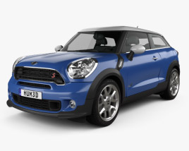 3D model of Mini Cooper Paceman S All4 2014