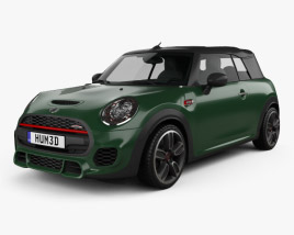 3D model of Mini Cooper John Cooper Works convertible 2016