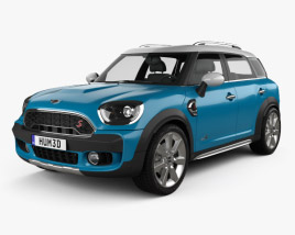3D model of Mini Cooper Countryman S ALL4 2017