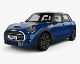 3D model of Mini Cooper S Seven (F56) 5-door 2016