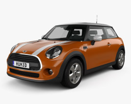 3D model of Mini Cooper Classic hatchback 3-door 2019