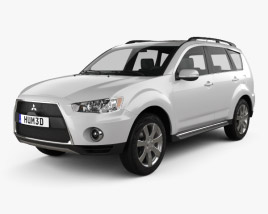 3D model of Mitsubishi Outlander GT 2010