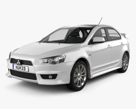 3D model of Mitsubishi Lancer Sedan 2009