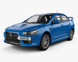 3D model of Mitsubishi Lancer Evolution X 2009