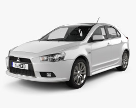 3D model of Mitsubishi Lancer Sportback 2009