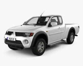 3D model of Mitsubishi L200 Triton Club Cab 2011