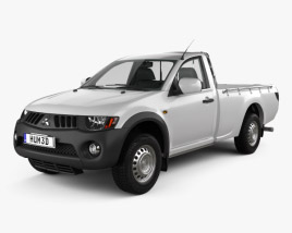 3D model of Mitsubishi L200 Triton Single Cab 2011