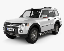 3D model of Mitsubishi Pajero Wagon 5-door 2009