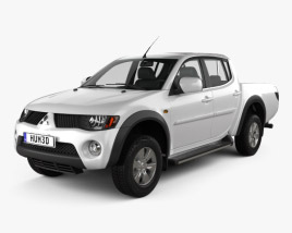 3D model of Mitsubishi L200 Triton Double Cab 2011