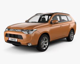 3D model of Mitsubishi Outlander 2013
