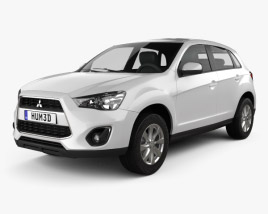 3D model of Mitsubishi Outlander Sport (RVR / ASX) 2012