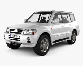 3D model of Mitsubishi Pajero (Montero) Wagon 2005