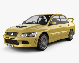 3D model of Mitsubishi Lancer Evolution 2001