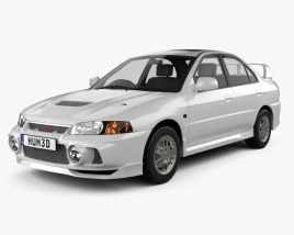 3D model of Mitsubishi Lancer Evolution 1997
