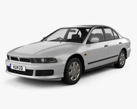 3D model of Mitsubishi Galant sedan 1996