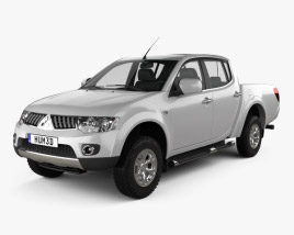 3D model of Mitsubishi L200 Triton Double Cab 4Life 2012