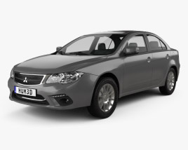 3D model of Mitsubishi Lancer Fortis 2013