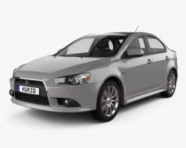 3D model of Mitsubishi Lancer sedan 2012