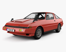 3D model of Mitsubishi Starion Turbo GSR III 1982