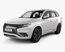 3D model of Mitsubishi Outlander PHEV S concept 2014