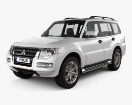 3D model of Mitsubishi Pajero (Montero) Wagon 2015