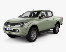 3D model of Mitsubishi L200 Triton Double Cab 2015