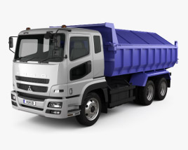 3D model of Mitsubishi Fuso Super Great Dump Truck 3-axle 2007