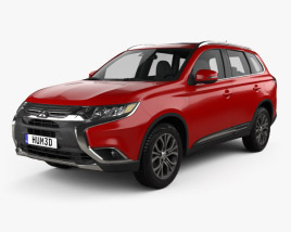 3D model of Mitsubishi Outlander 2015
