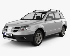 3D model of Mitsubishi Outlander 2003
