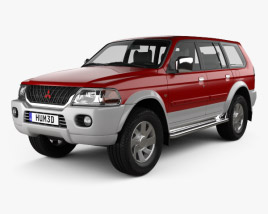 3D model of Mitsubishi Pajero Sport 1996