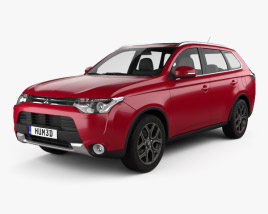 3D model of Mitsubishi Outlander 2014