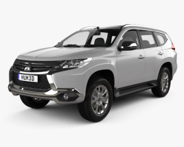 3D model of Mitsubishi Pajero Sport (TH) 2016