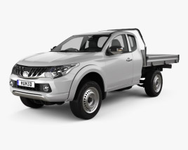 3D model of Mitsubishi Triton Club Cab Alloy Tray 2015