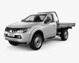 3D model of Mitsubishi Triton Single Cab Alloy Tray 2015