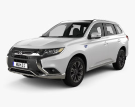 3D model of Mitsubishi Outlander PHEV 2015