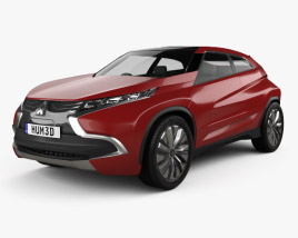 3D model of Mitsubishi XR-PHEV 2014