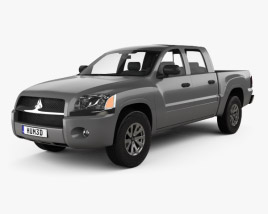 3D model of Mitsubishi Raider Double Cab 2005
