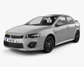 3D model of Mitsubishi Lancer GT 2016