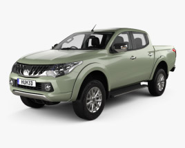 3D model of Mitsubishi Triton Double Cab with HQ interior 2015