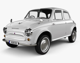 3D model of Mitsubishi 500 1960