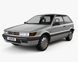 3D model of Mitsubishi Colt (Mirage) 1988