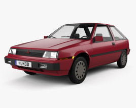 3D model of Mitsubishi Colt (Mirage) 1984