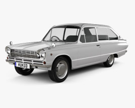 3D model of Mitsubishi Colt 1000F 3-door 1966