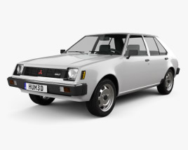 3D model of Mitsubishi Colt (Mirage) 1978