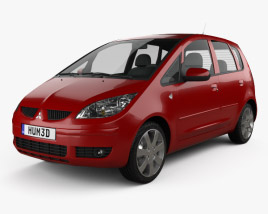 3D model of Mitsubishi Colt 2002